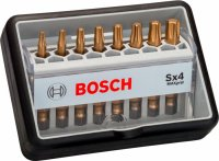 Набор бит Bosch Robust Line, 8 шт. Sx Max Grip