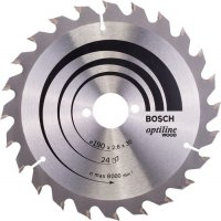 Диск по дереву Bosch Optiline Wood 190×2,6×30, 24 ATB