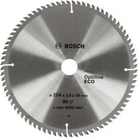 Пильный диск Bosch Optiline Eco 254×2,5×30 мм, 80 зубьев