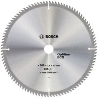 Пильный диск Bosch Optiline Eco 305×2,8×30 мм, 100 зубьев