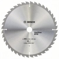 Пильный диск Bosch Optiline Eco 305×2,8×30 мм, 40 зубьев