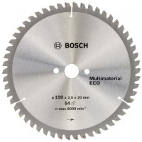Пильный диск Bosch Multimaterial Eco 190×2,5×20 мм, 54 зуба