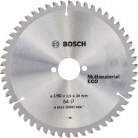 Пильный диск Bosch Multimaterial Eco 190×2,5×30 мм, 54 зуба