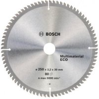Пильный диск Bosch Multimaterial Eco 250×3,2×30 мм, 80 зубов